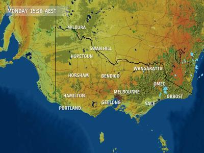 Victoria Radar Rain Image