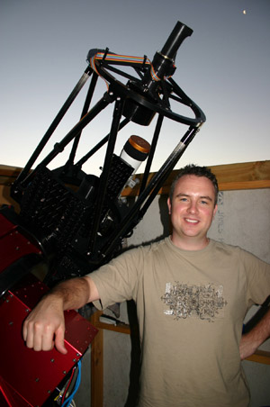 Photo of me with my telescope.