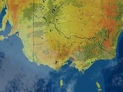 Victoria Infrared Satellite Image