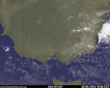 Victoria Visible Satellite Image